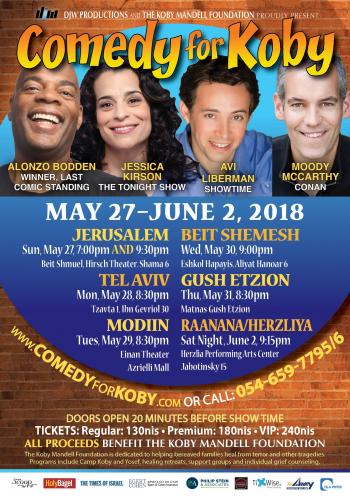 Comedy For Koby Returns May 27- June 2