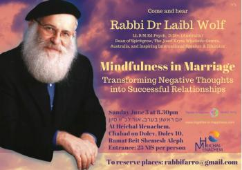 Mindfulness in Marriage June 3 Exciting Lecture