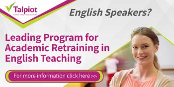 Teaching English as a Foreign Language: Special Retraining Program 2018-2019 at Talpiot College