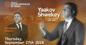 Yaakov Shwekey Sukkot Benefit Concert - United To Save Lives - Sept 27