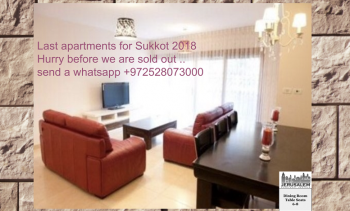 Last call for Sukkot Vacation Rentals!