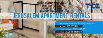 Strictly Kosher Vacation Apartments Available In Downtown Jerusalem