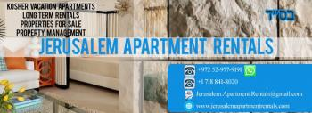 Kosher Vacation Apartments Available For The Winter Season 2019-2020 In Jerusalem