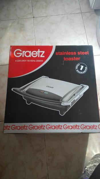 New Graetz sandwich toaster