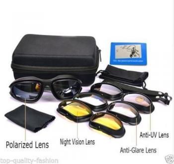 UV400 Daisy C5 Desert Storm Goggles,Glasses with 4 Lens , New!