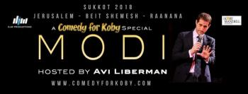 Comedy For Koby Returns This Sukkot with Modi!