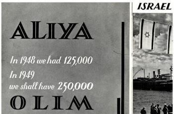 How did Israel promote Aliyah to Anglos in 1948?