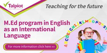 M.Ed program in English as an international language at Talpiot College of Education