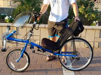 ALMOST NEW! Lightning (USA) phantom recumbent 21 speed blue bike short wheelbase