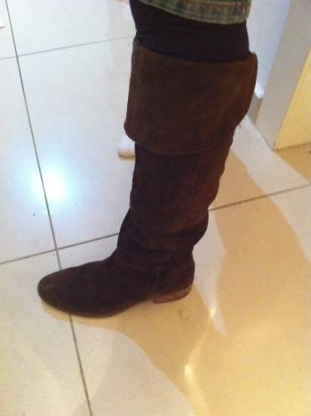 Brown Suede Winter boots size 37 NINE WEST