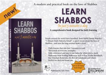 Make Shabbos YOUR project. Get the Shabbos Book!