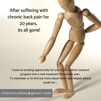 Do you have backpain? TMS?