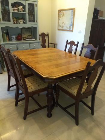 Authentic, Antique Dining Table and Chairs