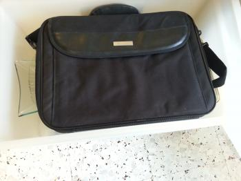 FOR SALE:Black laptop bag,padded with strap, never used