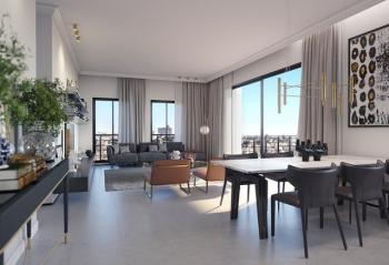 Garden apartment for sale in the New luxury project