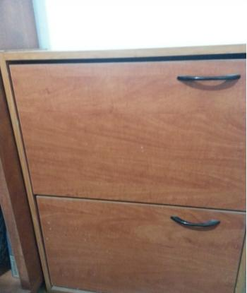 FOR SALE: Shoe cabinet,wood, excellent condition