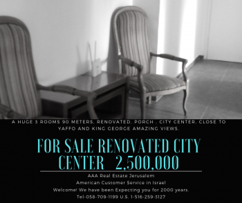For Sale City Center Huge 3 Rooms Renovated