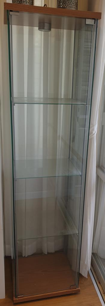 Ikea Glass-door cabinet with internal light