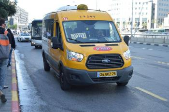 Beginning Sunday, Rav Kav Smart Cards May Be Used On Certain Sheirut Taxi Lines