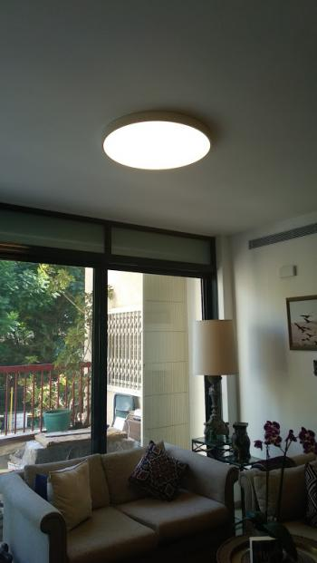 Large flat ceiling light