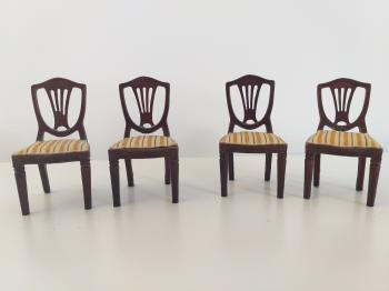 Vintage dollhouse furniture 4 chairs