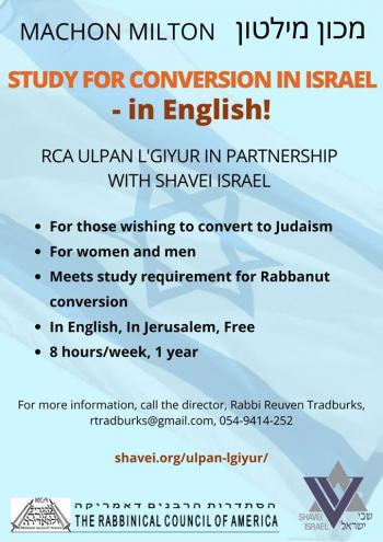 Free Conversion Program In Jerusalem