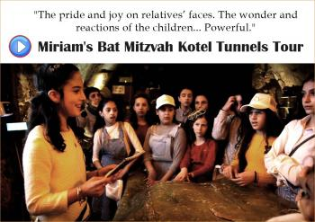 SHORT FILM: Miriam leads a Kotel Tunnels tour for her classmates
