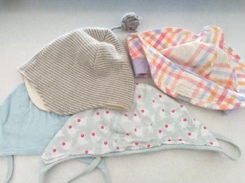 Organic Baby hats, romper, woolen shirt