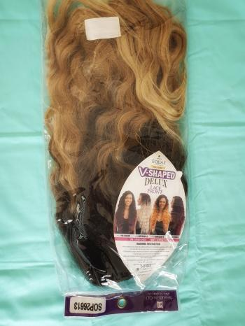 V-shaped delux synthetic hair lace front wig
