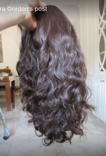 Brand new wig, air-dries in silky waves/curls. hand-tied cap! So comforable.