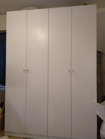 White bedroom closet & dresser
