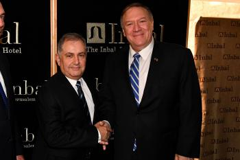 Secretary of State, Pompeo enjoys the special holiday atmosphere