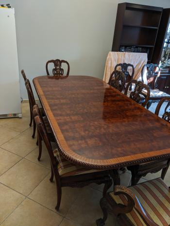 Super High Quality Victoria Style Dining Room Table and Chairs