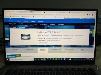 "Dell Latitude 7400 2-IN-1 i5-8265U 8GB 512GB M.2 SSD 14"" TOUCH W10P Slightly Use"