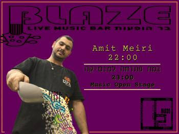 Amit Meiri before Monday's MUSIC Open Stage at Blaze Rock Bar