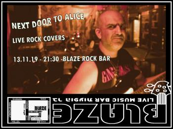 Rock covers from Next Door to Alice before Wednesday's Jam at Blaze Rock Bar