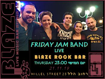 The Friday Jam band LIVE at Blaze Rock Bar