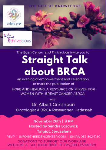 Straight Talk about BRCA