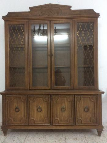 Antique curio/silver cabinet/breakfront
