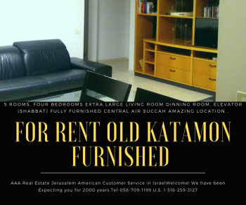 For Rent 4 bedrooms renovated furnished OLD KATAMON