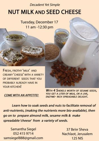 Vegan Dairy: Nut Milk and Seed Cheese Workshop