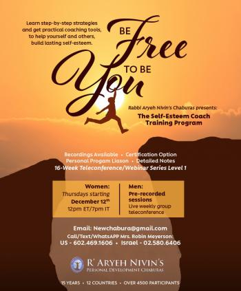Be Free to be You - Program Starting Thursday