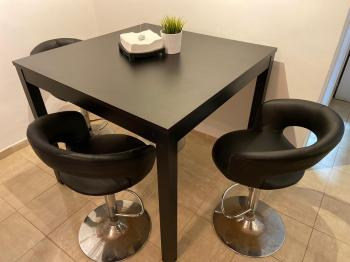 IKEA high table + 4 chairs  500 sh