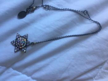 Michal Negrin Star Of David Necklace w Matching Earrings