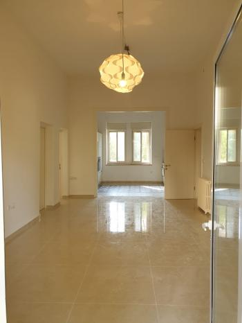 For Rent in Jerusalem in Talbiya a 6 Room Garden Apartment