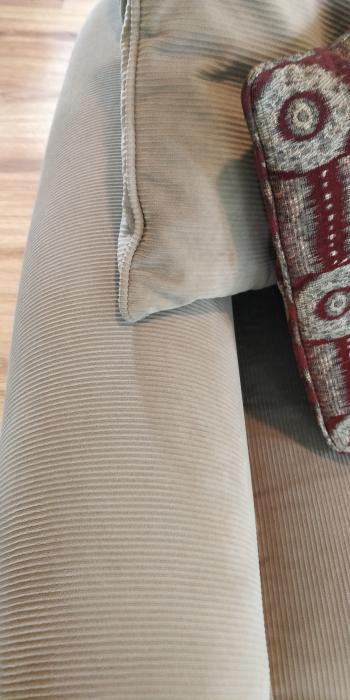 Long Corduroy Sofa Excellent Condition