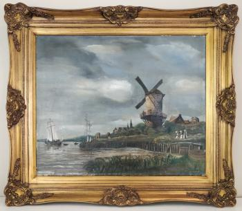 Homage To van Ruisdael The Windmill @ Wijk bij Duurstede Original Oil Amseterdam