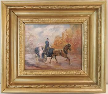 Paul Flaubert Original Oil Painting Framed