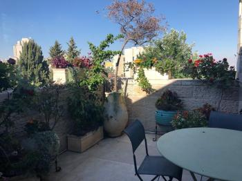 For Rent in Jerusalem in the Talbiya Neighborhood a 2 Bedroom Apartment