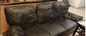 Leather couch, real leather. Must sell asap. negotiable. make an offer